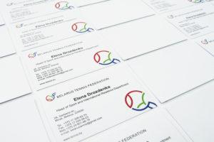 Визитка Стандартные -4+0-бумага-350г-м2