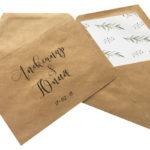 крафт конверты с треугольным вкладышем с печатью и цветным вкладышем в минске срочно