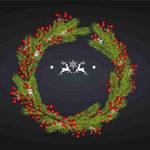 открытка с новым годом с шаблон рождеством календарь 2020